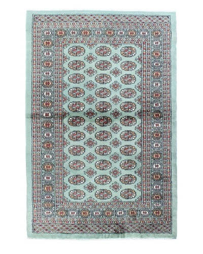 "Bashian Royal Bukara Rug, Light Green, 4' x 6' 1"""