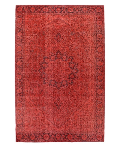 Bashian Antiqued Oushak Rug, Red, 6' 4 x 9' 9