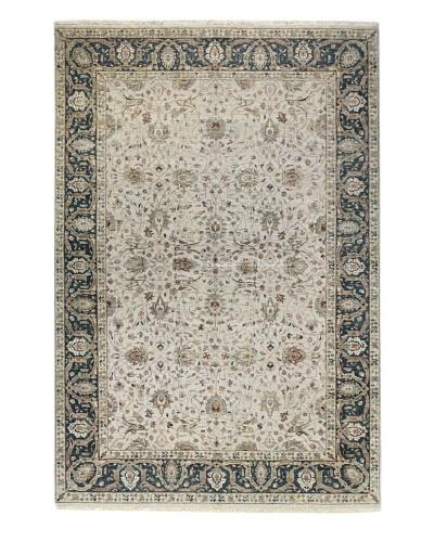 Bashian Fine Indo-Tabriz Rug, Beige, 6' x 9'