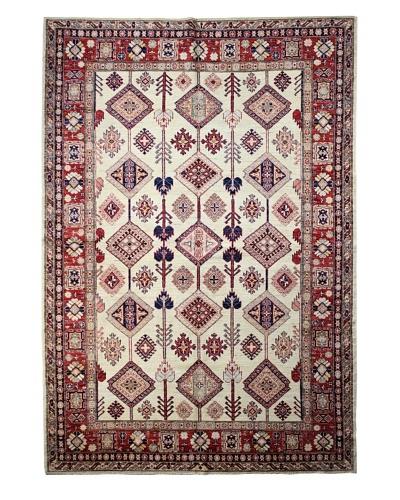 Bashian Fine Kazak Rug, Ivory, 6' x 8' 7