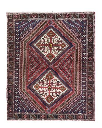 Bashian Afshar Rug, Red, 4' 2 x 5' 2