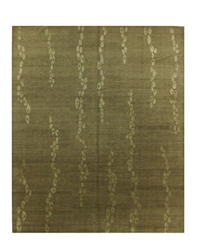 Bashian Rugs Fine Tibetan Silk & Wool Rug, Oyster, 8' 2 x 10'