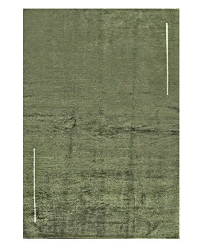 Bashian Rugs Fine Tibetan Silk & Wool Rug, Cypress, 6' 2 x 9' 1
