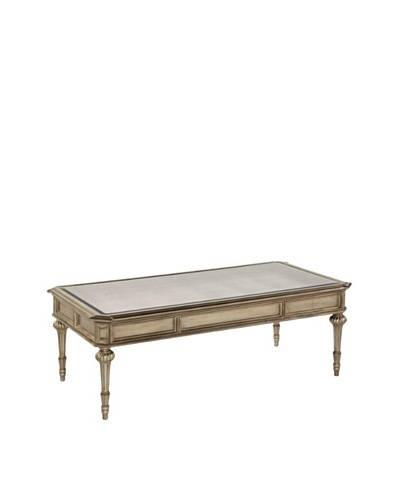 Bassett Mirror Palazzina Rectangular Cocktail Table, Champaign Silver