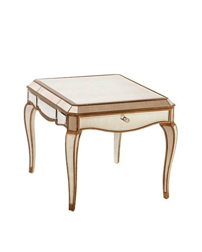 Bassett Mirror Collette Rectangular End Table, Antique Mirror