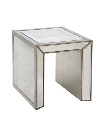 Bassett Mirror Murano Rectangular End Table, Antique Mirror