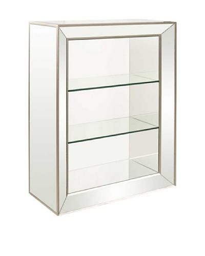 Bassett Mirror Minetta 3-Shelf Bookcase, Mirrored