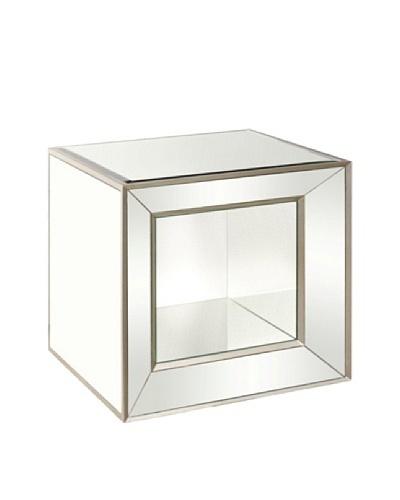 Bassett Mirror Minetta Mirrored Accent Table, Mirrored