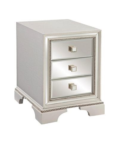 Bassett Mirror Armando Chair-Side Chest, White