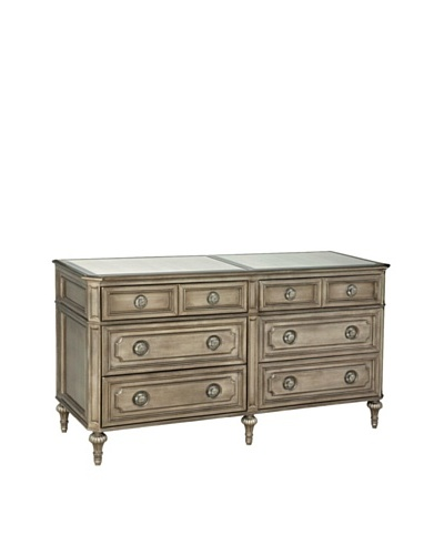 Bassett Mirror Co. Palazzina 6 Drawer Chest, Champagne Silver