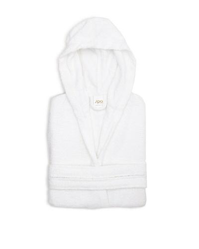 Famous International Hooded Shorty Robe, White