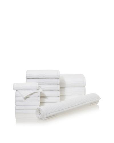 Chortex Oxford 16-Piece Bath Towel Set, White