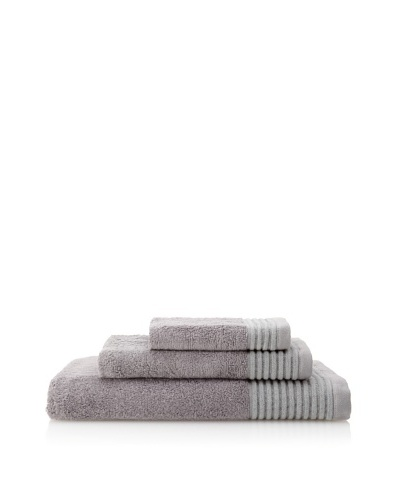 Terrisol Cotton/Rayon from Bamboo 3-Piece Towel Set, Slate Black