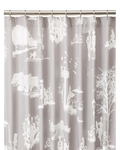 Blissliving Home Madeleine Shower Curtain, Grey, 72 x 72