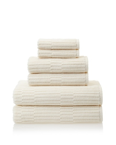 Chortex Oxford 6-Piece Bath Towel Set, Almond