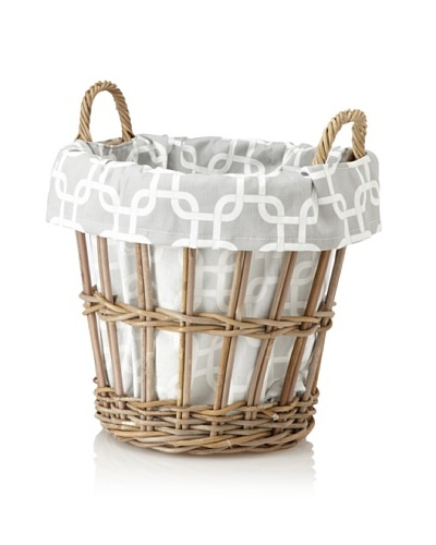 Chateau Blanc Sonoma Small Rattan Basket, Brown/Grey/White