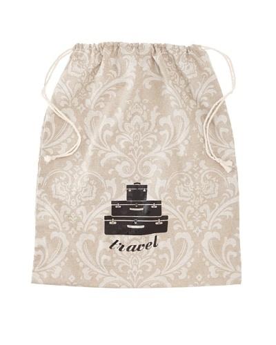 "Chateau Blanc Kingston Extra Large Printed Drawstring Bag, Neutral, 20"" x 25"""
