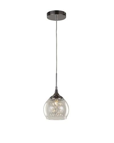 Bel Air Lighting Glass Bowl Drop Pendant, Polished Chrome
