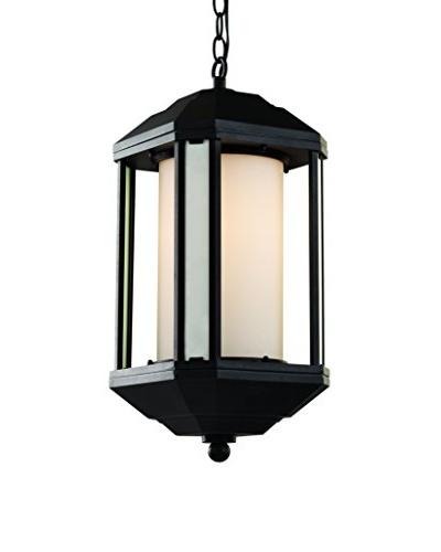 """Bel Air Lighting Downtown Trolley 21"""" Hanging Lantern, Black"""