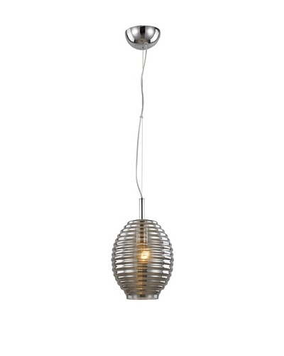 Bel Air Lighting Bee Hive 8 Drop Pendant, Smoke/Polished Chrome