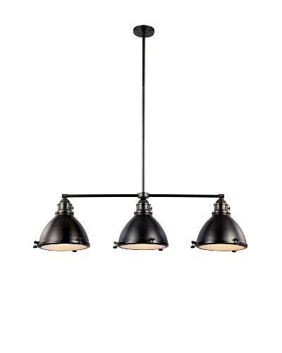Bel Air Lighting Vintage Headlamp 46 Weathered Bronze Island Pendant Light