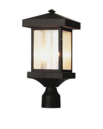 Bel Air Lighting 2-Light Post Lantern, Weather Bronze