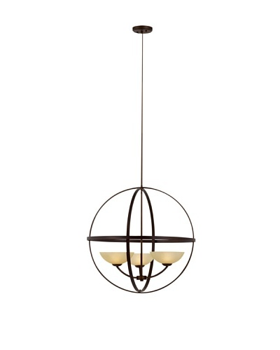 Bel Air Lighting Hercules Spherical Antique Bronze 3-Light Chandelier