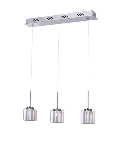 Bel Air Lighting Kuma 3-Drop Pendant, Polished Chrome