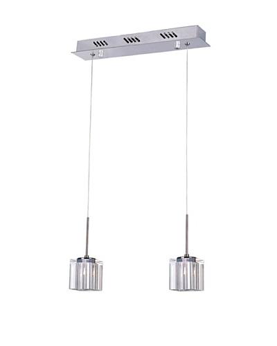 Bel Air Lighting Kuma 2-Drop-Pendant, Polished Chrome