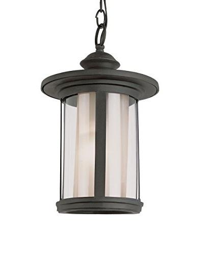 Bel Air Lighting 1-Light Hanging Lantern, Black