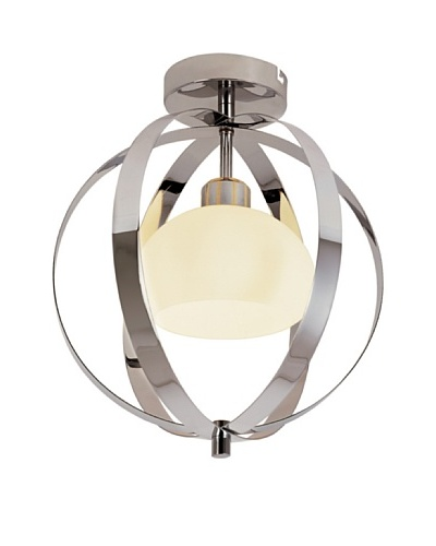 Bel Air Lighting Harlequin Ball Flush-Mount Fixture, Polished Chrome
