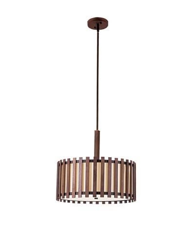 Bel Air Lighting 18 Walnut Pendant Light