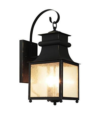 Bel Air Lighting 3-Light Coach Lantern, Weather Bronze