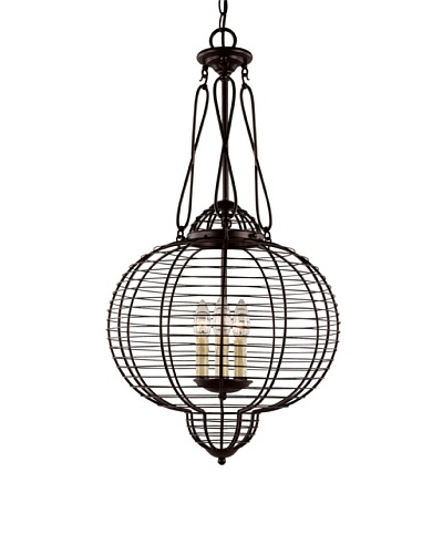 Bel Air Lighting French Basket Black 16 Pendant Light