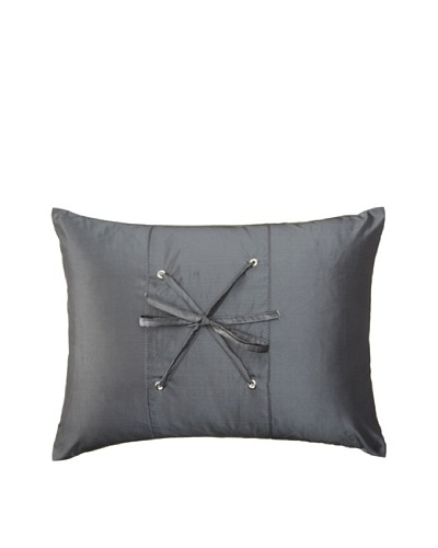 Belle Époque Sky Lace Boudoir Pillow, Grey