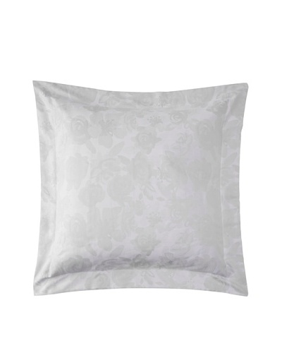 Belle Époque Jacquard Rose Euro Sham, Grey