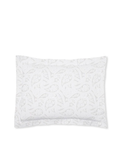Belle Epoque Kashmir Paisley Pillow Sham [Grey/White]