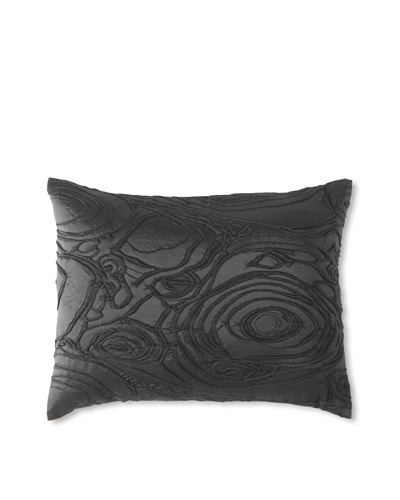 "Belle Epoque Rythmic Decorative Pillow, Black, 12"" x 16"""