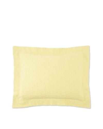 Belle Epoque Rose Coastal Matelassé Pillow Sham [Citron]