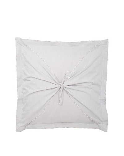 Belle Epoque Flower Wave Loop Toss Pillow, Grey