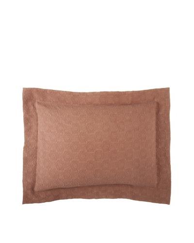 Belle Epoque Rose Coastal Matelassé Pillow Sham [Chocolate]