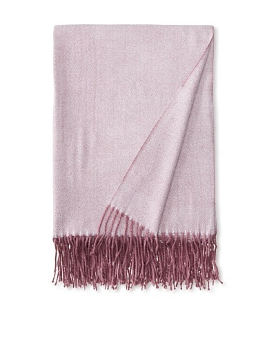 Belle Epoque Herringbone Cashmere Touch Throw, Lilac, 50 x 70