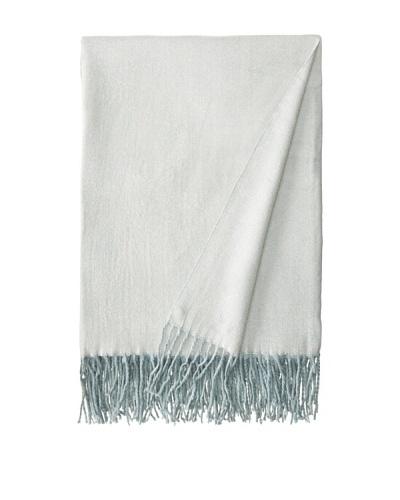 Belle Epoque Herringbone Cashmere Touch Throw, Blue, 50 x 70