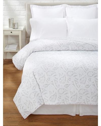 Belle Epoque Kashmir Paisley Coverlet [Grey/White]
