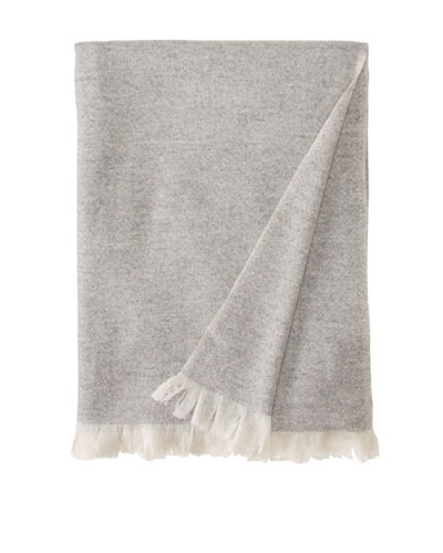 Belle Epoque Heathered Cashmere Throw, Grey, 50 x 70