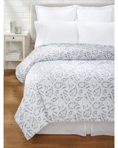 Belle Epoque Kashmir Paisley Coverlet [Black/White]