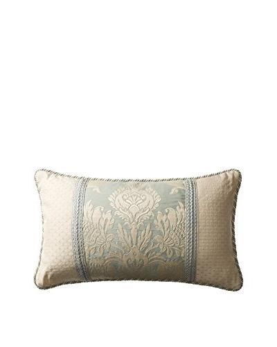 "Belmont Home Maylin Decorative Pillow, Ivory/Ocean, 15""X26"""
