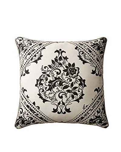 Belmont Home Evelyn Decorative Pillow, Ivory/Black