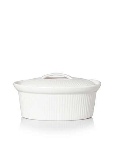 "BergHOFF Bianco 8.5"" x 10.5"" Oval Covered Casserole"