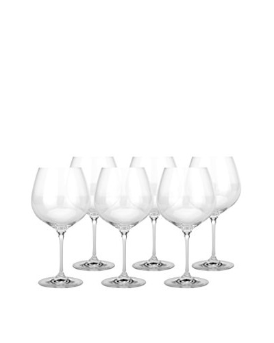 BergHOFF Set of 4 Bistro 20.3-Oz. Burgundy Stem Glasses